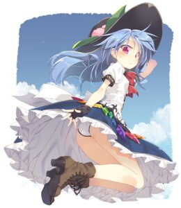 Rating: Questionable Score: 25 Tags: ass heels hinanawi_tenshi pantsu satou_kibi skirt_lift touhou User: Mr_GT