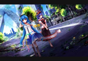 Rating: Safe Score: 19 Tags: hinanawi_tenshi mijinko nagae_iku touhou User: tbchyu001