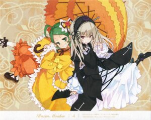Rating: Safe Score: 24 Tags: endcard gothic_lolita kanaria lolita_fashion paper_texture rozen_maiden suigintou ushiki_yoshitaka User: Radioactive