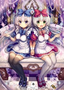 Rating: Safe Score: 45 Tags: airi_(alice_or_alice) akabane alice_or_alice_siscon_nii-san_to_futago_no_imouto dress rise_(alice_or_alice) thighhighs User: yoyokirby