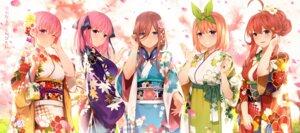 Rating: Safe Score: 51 Tags: 5-toubun_no_hanayome japanese_clothes kimono nakano_ichika nakano_itsuki nakano_miku nakano_nino nakano_yotsuba yijian_ma User: Mr_GT