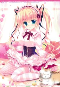 Rating: Safe Score: 64 Tags: dress mikeou neko pink_chuchu skirt_lift thighhighs User: Twinsenzw