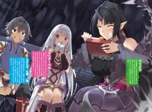 Rating: Safe Score: 10 Tags: armor dress elf horns pointy_ears tagme tail yappen User: kiyoe