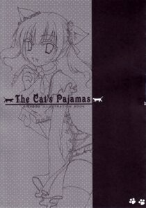Rating: Safe Score: 2 Tags: animal_ears cleavage haco line_art monochrome nekomimi pantsu risebox tail thighhighs User: MirrorMagpie