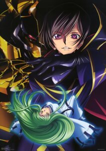 Rating: Safe Score: 12 Tags: c.c. chiba_yuriko code_geass lelouch_lamperouge nakada_eiji User: Radioactive