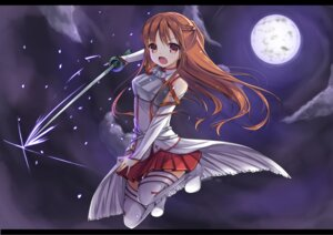 Rating: Safe Score: 33 Tags: asuna_(sword_art_online) luky sword sword_art_online thighhighs User: fairyren