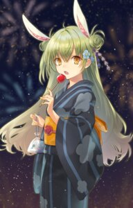 Rating: Safe Score: 5 Tags: animal_ears bunny_ears tagme tamu_(tamurarucaffe1226) yukata User: Dreista