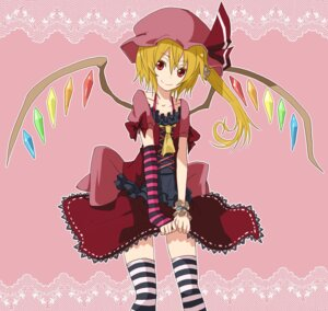 Rating: Safe Score: 11 Tags: flandre_scarlet shirofox thighhighs touhou User: Radioactive