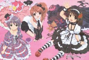 Rating: Safe Score: 50 Tags: asahina_mikuru cleavage dress gothic_lolita ikeda_shouko lolita_fashion nagato_yuki suzumiya_haruhi suzumiya_haruhi_no_yuuutsu User: vita