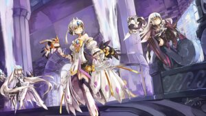 Rating: Safe Score: 28 Tags: elsword eve_(elsword) mecha_musume thighhighs vilor weapon User: AnimalsNight
