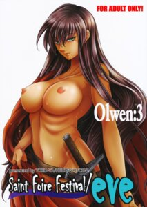 Rating: Questionable Score: 25 Tags: kitoen naked nipples robe sword toko-ya User: mash