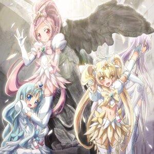 Rating: Safe Score: 6 Tags: dress hanasaki_tsubomi heartcatch_pretty_cure! inoshishi kurumi_erika myoudouin_itsuki pretty_cure thighhighs tsukikage_yuri User: eridani