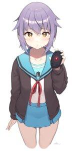 Rating: Safe Score: 28 Tags: cloba nagato_yuki seifuku suzumiya_haruhi_no_yuuutsu sweater User: Spidey