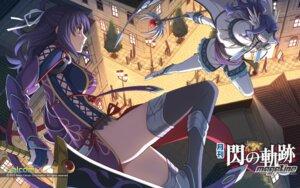 Rating: Safe Score: 39 Tags: eiyuu_densetsu eiyuu_densetsu:_ao_no_kiseki enami_katsumi falcom rixia_mao sword thighhighs wallpaper User: Driger