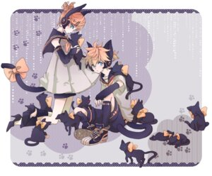 Rating: Safe Score: 9 Tags: animal_ears kagamine_len kagamine_rin mozzu neko tail vocaloid User: Radioactive