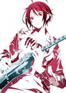Rating: Safe Score: 16 Tags: fuuka guitar monochrome seo_kouji tagme User: saemonnokami