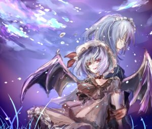 Rating: Safe Score: 4 Tags: izayoi_sakuya muku0615 remilia_scarlet touhou wings User: charunetra