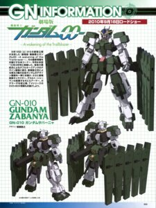 Rating: Safe Score: 6 Tags: character_design gundam gundam_00 gundam_00:_a_wakening_of_the_trailblazer gundam_zabanya mecha yanase_takayuki User: harimahario