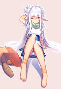 Rating: Safe Score: 42 Tags: dev dress feet pantsu pointy_ears User: KazukiNanako