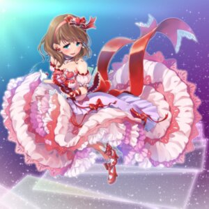 Rating: Safe Score: 31 Tags: dress heels maru_(sara_duke) sakuma_mayu skirt_lift the_idolm@ster the_idolm@ster_cinderella_girls User: Mr_GT