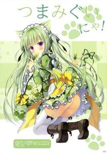 Rating: Questionable Score: 42 Tags: animal_ears ass heels loli machaneko-san maid nekomimi nopan skirt_lift stockings tail takano_yuki thighhighs wa_maid User: drop
