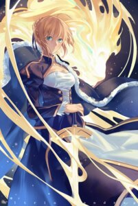 Rating: Safe Score: 34 Tags: cleavage dress fate/stay_night norizc saber sword User: Mr_GT