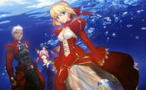 Rating: Safe Score: 27 Tags: archer caster_(fate/extra) fate/extra fate/stay_night kitsune saber_extra takeuchi_takashi type-moon User: MDGeist