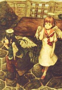 Rating: Safe Score: 11 Tags: abe_yoshitoshi haibane_renmei rakka reki_(haibane_renmei) wings User: Davison