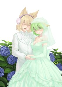 Rating: Safe Score: 7 Tags: cleavage dress sdmaiden soga_no_tojiko touhou toyosatomimi_no_miko wedding_dress User: itsu-chan