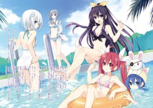Rating: Questionable Score: 105 Tags: ass bikini cleavage date_a_live feet itsuka_kotori murasame_reine swimsuits tobiichi_origami tsunako yatogami_tooka yoshino_(date_a_live) User: h71337