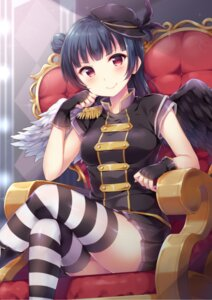 Rating: Safe Score: 40 Tags: hazuki_(sutasuta) love_live!_sunshine!! thighhighs tsushima_yoshiko wings User: RyuZU