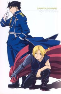 Rating: Safe Score: 9 Tags: edward_elric fullmetal_alchemist male roy_mustang scanning_artifacts User: Midori912