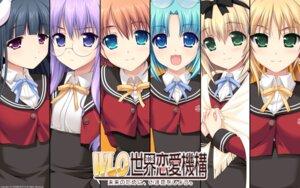Rating: Safe Score: 20 Tags: akabeisoft2 alpha asami_asami megane seifuku wallpaper w.l.o._sekai_renai_kikou User: yuno