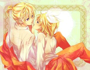 Rating: Safe Score: 8 Tags: kagamine_len kagamine_rin rikuko vocaloid User: Radioactive