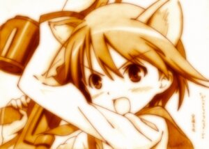 Rating: Safe Score: 7 Tags: animal_ears godees gun miyafuji_yoshika monochrome seifuku strike_witches User: charunetra