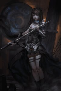 Rating: Safe Score: 16 Tags: armor baka_(mh6516620) cleavage garter sword User: charunetra