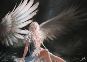 Rating: Safe Score: 31 Tags: angel breast_hold pointy_ears tagme wings User: Spidey