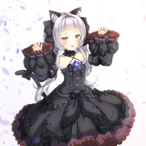 Rating: Safe Score: 13 Tags: animal_ears dress gothic_lolita hololive ijac_ray lolita_fashion murasaki_shion nekomimi skirt_lift tail User: charunetra