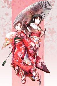 Rating: Safe Score: 23 Tags: fudo_shin kantai_collection kimono shouhou_(kancolle) umbrella weapon zuihou_(kancolle) User: Mr_GT