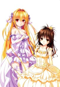 Rating: Safe Score: 97 Tags: color_issue dress golden_darkness to_love_ru to_love_ru_darkness wedding_dress yabuki_kentarou yuuki_mikan User: 椎名深夏