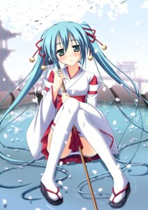 Rating: Questionable Score: 65 Tags: hatsune_miku miko pantsu shimapan skywaker thighhighs vocaloid User: blooregardo