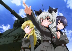 Rating: Safe Score: 21 Tags: anchovy carpaccio girls_und_panzer pepperoni sword uniform User: drop
