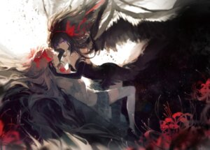 Rating: Safe Score: 75 Tags: akemi_homura dress kaname_madoka puella_magi_madoka_magica rella seifuku thighhighs wings User: blooregardo