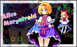 Rating: Safe Score: 8 Tags: alice_margatroid shanghai skirt_lift sw thighhighs touhou User: fireattack