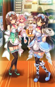 Rating: Safe Score: 53 Tags: abnormal_lovers animal_ears ayuma_sayu bunny_ears cleavage garter heels maid mayusaki_yuu nekomimi stockings tagme tail thighhighs tortesoft waitress User: moonian