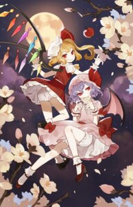Rating: Safe Score: 25 Tags: ass bloomers dress flandre_scarlet heels omyo remilia_scarlet touhou wings User: Mr_GT