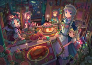 Rating: Safe Score: 33 Tags: flandre_scarlet halloween hong_meiling izayoi_sakuya patchouli_knowledge remilia_scarlet sanntouhei touhou User: Mr_GT