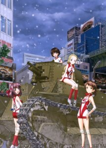 Rating: Safe Score: 19 Tags: ass girls_und_panzer gym_uniform isobe_noriko kawanishi_shinobu kondou_taeko sasaki_akebi User: drop