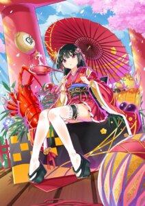 Rating: Safe Score: 50 Tags: garter kikimi kimono thighhighs User: KazukiNanako