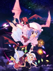 Rating: Safe Score: 16 Tags: flandre_scarlet remilia_scarlet touhou t-ray User: fairyren